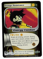 Dragon Ball Z CCG Game Card: Orange Resistance (Foil)