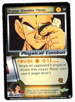 Dragon Ball Z CCG Game Card: Orange Shoulder Throw