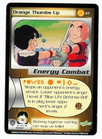 Dragon Ball Z CCG Game Card: Orange Thumbs Up