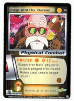 Dragon Ball Z CCG Game Card: Orange Wrist Flex Takedown