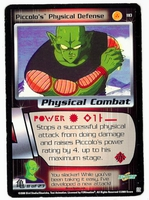 Dragon Ball Z CCG Game Card: Piccolo's Physical Defense