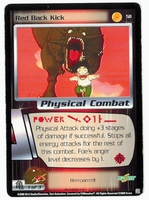 Dragon Ball Z CCG Game Card: Red Back Kick