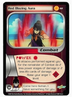 Dragon Ball Z CCG Game Card: Red Blazing Aura