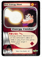 Dragon Ball Z CCG Game Card: Red Energy Blast