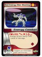 Dragon Ball Z CCG Game Card: Red Energy Disk Blasting