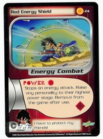 Dragon Ball Z CCG Game Card: Red Energy Shield