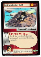 Dragon Ball Z CCG Game Card: Red Implosion Drill