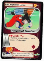 Dragon Ball Z CCG Game Card: Red Implosion Lunge