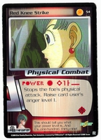 Dragon Ball Z CCG Game Card: Red Knee Strike