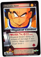 Dragon Ball Z CCG Game Card: Red Knife Hand