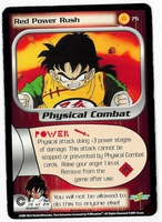 Dragon Ball Z CCG Game Card: Red Power Rush