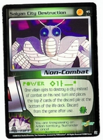 Dragon Ball Z CCG Game Card: Saiyan City Destruction