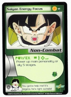 Dragon Ball Z CCG Game Card: Saiyan Energy Focus