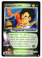 Dragon Ball Z CCG Game Card: Saiyan Neck Hold