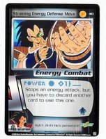 Dragon Ball Z CCG Game Card: Straining Energy Defense Move