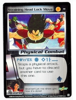 Dragon Ball Z CCG Game Card: Straining Head Lock Move