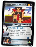 Dragon Ball Z CCG Game Card: Straining Rolling Escape Move