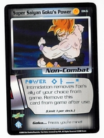 Dragon Ball Z CCG Game Card: Super Saiyan Goku's Power (Promo)