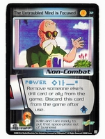 Dragon Ball Z CCG Game Card: The Untroubled Mind is Focused