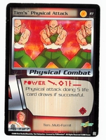Dragon Ball Z CCG Game Card: Tien's Physical Attack