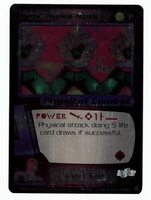 Dragon Ball Z CCG Game Card: Tien's Physical Attack (Foil)