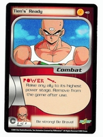 Dragon Ball Z CCG Game Card: Tien's Ready