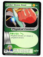 Dragon Ball Z CCG Game Card: Trunks Draws Steel