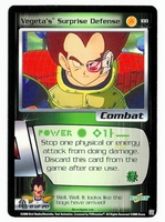 Dragon Ball Z CCG Game Card: Vegeta's Surprise Defense