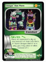Dragon Ball Z CCG Game Card: Vinegar Has Plans