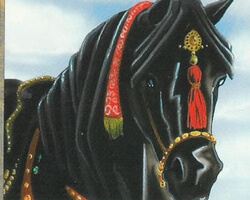 Magic the Gathering 4th Edition Card: Ebony Horse