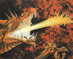 Magic the Gathering 4th Edition Card: Firebreathing