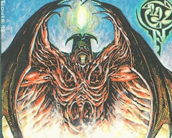 Magic the Gathering 4th Edition Card: Lord of the Pit