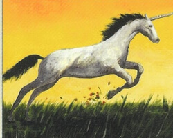 Magic the Gathering 4th Edition Card: Pearled Unicorn