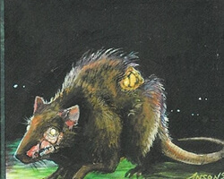 Magic the Gathering 4th Edition Card: Plague Rats