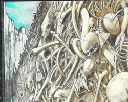 Magic the Gathering 4th Edition Card: Wall of Bone