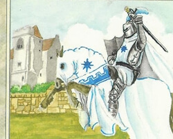 Magic the Gathering 4th Edition Card: White Knight