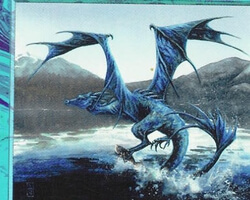Magic the Gathering 5th Edition Card: Azure Drake