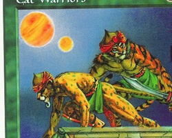 Magic the Gathering 5th Edition Card: Cat Warriors