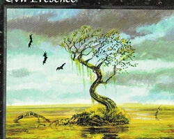 Magic the Gathering 5th Edition Card: Evil Presence
