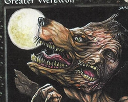 Magic the Gathering 5th Edition Card: Greater Werewolf