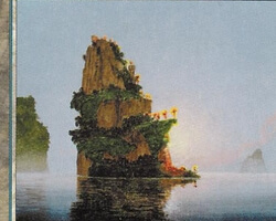 Magic the Gathering 5th Edition Card: Island (a)