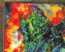 Magic the Gathering 5th Edition Card: Jade Monolith