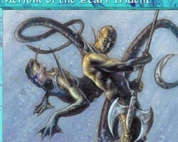 Magic the Gathering 5th Edition Card: Merfolk of the Pearl Trident