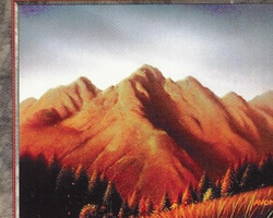 Magic the Gathering 5th Edition Card: Mountain (b)