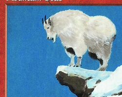 Magic the Gathering 5th Edition Card: Mountain Goat