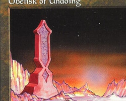 Magic the Gathering 5th Edition Card: Obelisk of Undoing