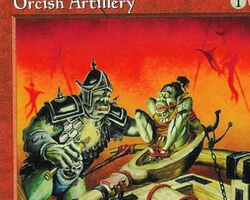 Magic the Gathering 5th Edition Card: Orcish Artillery