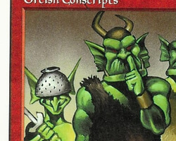 Magic the Gathering 5th Edition Card: Orcish Conscripts