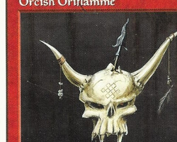Magic the Gathering 5th Edition Card: Orcish Oriflamme