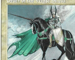 Magic the Gathering 5th Edition Card: Order of the White Shield